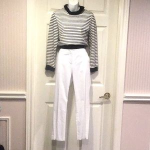 🛍NWOT Bundled white&black top with white pants